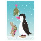 sg241 | schönegrüsse | Pingu mit Hasenfreund - Postkarte