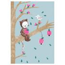 sg243 | schönegrüsse | Tierchen auf Baum - Postkarte