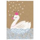 sg244   schönegrüsse   magic swan - postcard