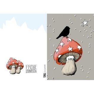IL9036 | illi | Irma On The Star Mushroom - folding card  B6