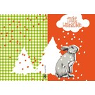 IL9040   illi   Snow Rabbit Johann - folding card  B6