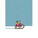 GS86   Glückssachen   Weihnachten - Schlitten - Postkarte A6