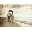 b038 | brocante | Beach Walk - postcard A6