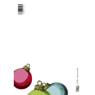 IL0152 | illi | Christmas Balls colourful - postcard A6