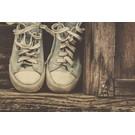 b057 | brocante | Chucks - Postkarte A6