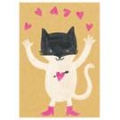 SG090 | schönegrüsse | Happy - Katze - Postkarte A6
