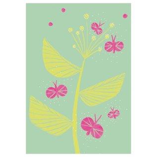 SG093 | schönegrüsse | Jahreszeiten - Schmetterlinge - Postkarte A6