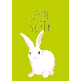 cc003 | crissXcross | Your Super Bunny - postcard A6