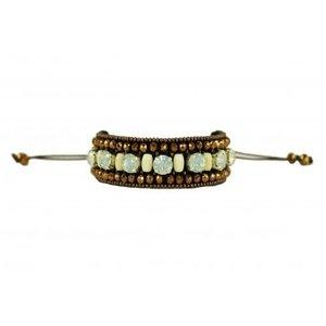 Pink Pewter Bracelet Hera - Bronze/ Cream