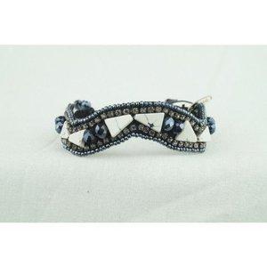 Pink Pewter Bracelet Melinda - White