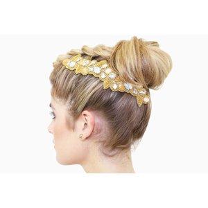 Pink Pewter Hair Jewel Harmony - Gold