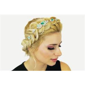 Pink Pewter Hair Jewel Naomi #1 - Emerald