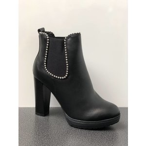 Ankle Heel Boots Black
