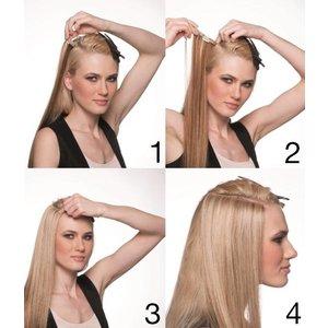 Euro SoCap Seiseta Invisible Clip-On 17 Midden blond