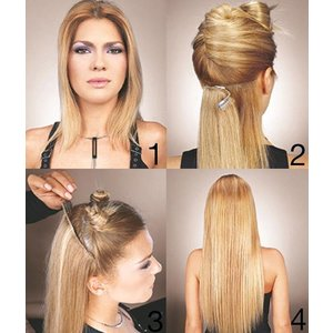 Euro SoCap Free Extensions Clip-On 14 Blond
