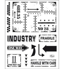 Viva Decor Industrial Style Clear Stamp Set (4003 159 00)