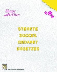 Nellie Snellen Shape Die Dutch Texts 2 (SD030)