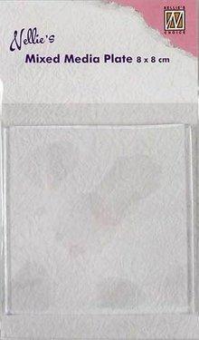 Nellie Snellen Mixed Media Plate Square 8x8cm (NMMP002)