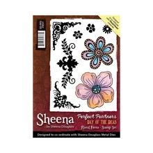 Crafter's Companion Sheena Douglass Day Of The Dead Floral Fiesta Unmounted Rubber Stamp Set (SD-PPS-FIEST)
