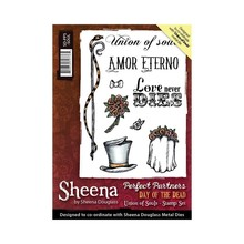 Crafter's Companion Sheena Douglass Day Of The Dead Union Of Souls Unmounted Rubber Stamp Set (SD-PPS-SOUL)