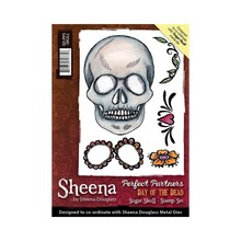 Crafter's Companion Sheena Douglass Day Of The Dead Sugar Skull Unmounted Rubber Stamp Set (SD-PPS-SKULL)