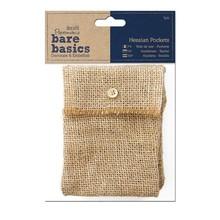 Papermania Bare Basics Hessian Pockets (3 pcs) (PMA 174452)