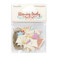 Dovecraft Blooming Lovely Mini Bunting & Twine (DCTOP053)