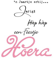 Marianne Design Collectable Hoera (COL1348)