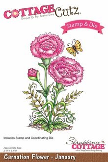 Scrapping Cottage CottageCutz Carnation Flower - January (CCS-002)