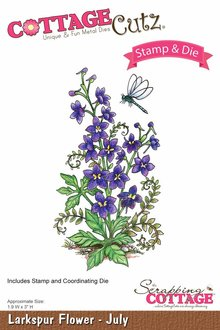 Scrapping Cottage CottageCutz Larkspur Flower - July (CCS-007)