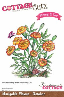 Scrapping Cottage CottageCutz Marigolds Flower - October (CCS-009)