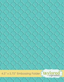 Taylored Expressions Quatrefoil Embossing Folder (TEEF60)