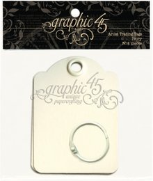 Graphic 45 Artist Trading Tags Ivory (4500846)