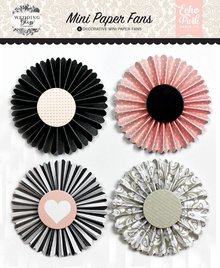 Echo Park Wedding Bliss Mini Paper Fans (WB129063)