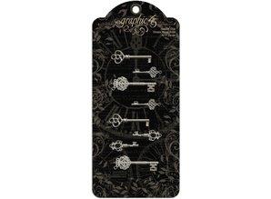 Graphic 45 Shabby Chic Ornate Metal Keys (4500839)