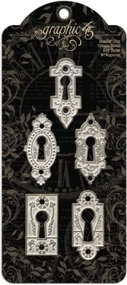 Graphic 45 Shabby Chic Ornate Metal Key Holes (4500840)