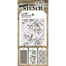 Stampers Anonimous Tim Holtz Mini Layering Stencil Set 4 (THMST004)