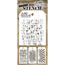 Stampers Anonimous Tim Holtz Mini Layering Stencil Set 5 (THMST005)