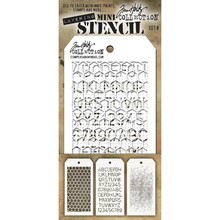 Stampers Anonimous Tim Holtz Mini Layering Stencil Set 8 (THMST008)
