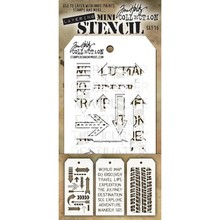 Stampers Anonimous Tim Holtz Mini Layering Stencil Set 15 (THMST015)