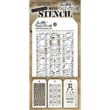 Stampers Anonimous Tim Holtz Mini Layering Stencil Set 16 (THMST016)