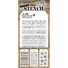 Stampers Anonimous Tim Holtz Mini Layering Stencil Set 18 (THMST018)
