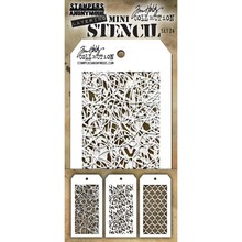 Stampers Anonimous Tim Holtz Mini Layering Stencil Set 24 (THMST024)