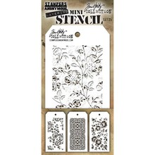 Stampers Anonimous Tim Holtz Mini Layering Stencil Set 25 (THMST025)