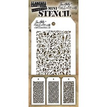 Stampers Anonimous Tim Holtz Mini Layering Stencil Set 26 (THMST026)