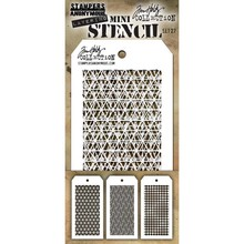 Stampers Anonimous Tim Holtz Mini Layering Stencil Set 27 (THMST027)