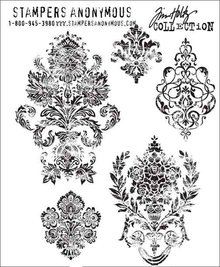 Stampers Anonimous Cling Stamps Damask (CMS190)