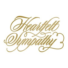 Couture Creations Anna Griffin Hot Foil Stamp Die Heartfelt Sympathy (CO725287)