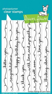 Lawn Fawn Scripty Sayings Clear Stamps (LF844)