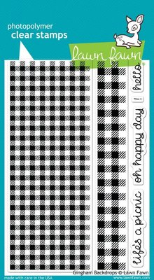 Lawn Fawn Gingham Backdrops Clear Stamps (LF847)